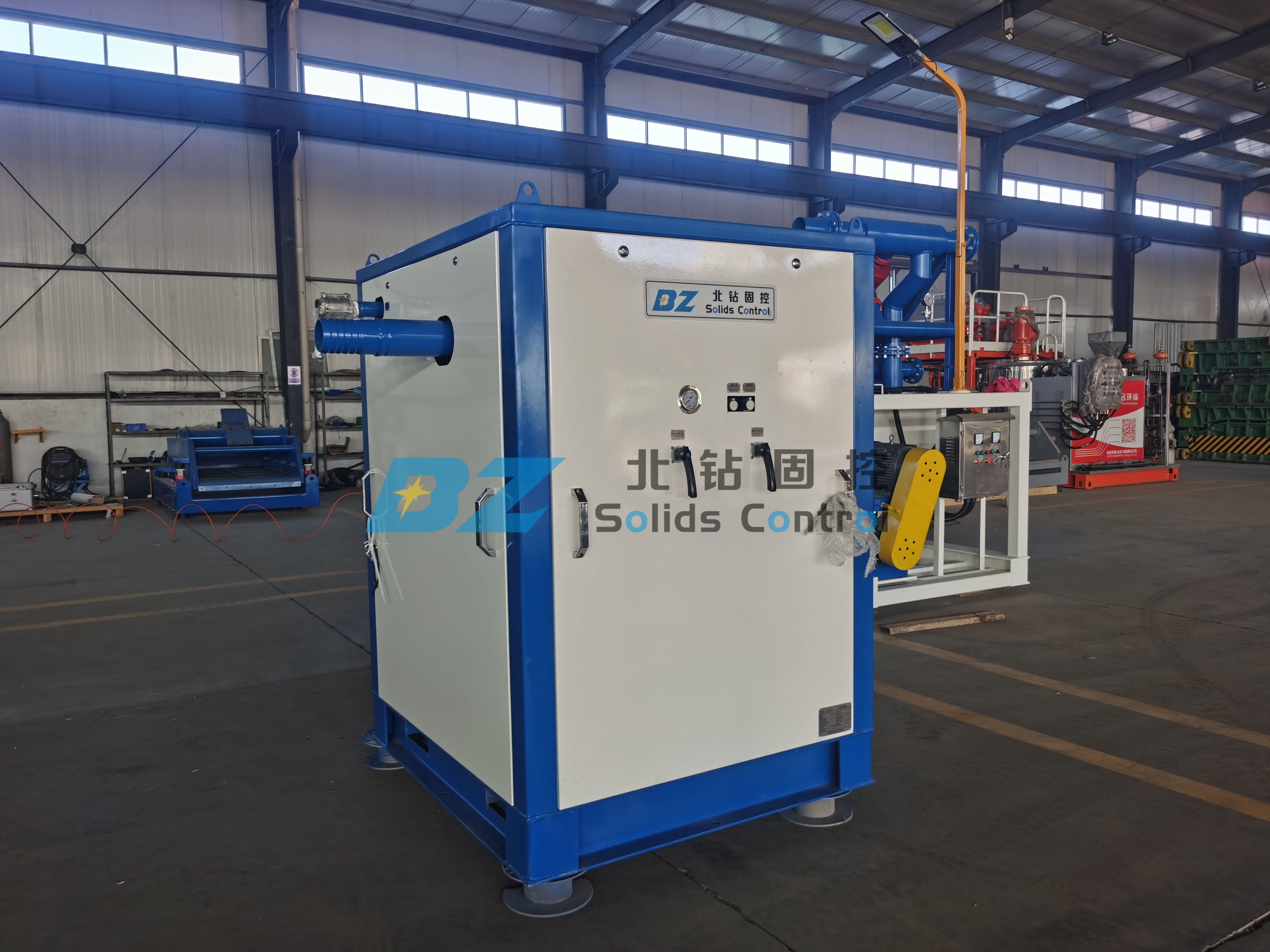 BZ Vacuum solids convey pump is using for oil tank cleaning