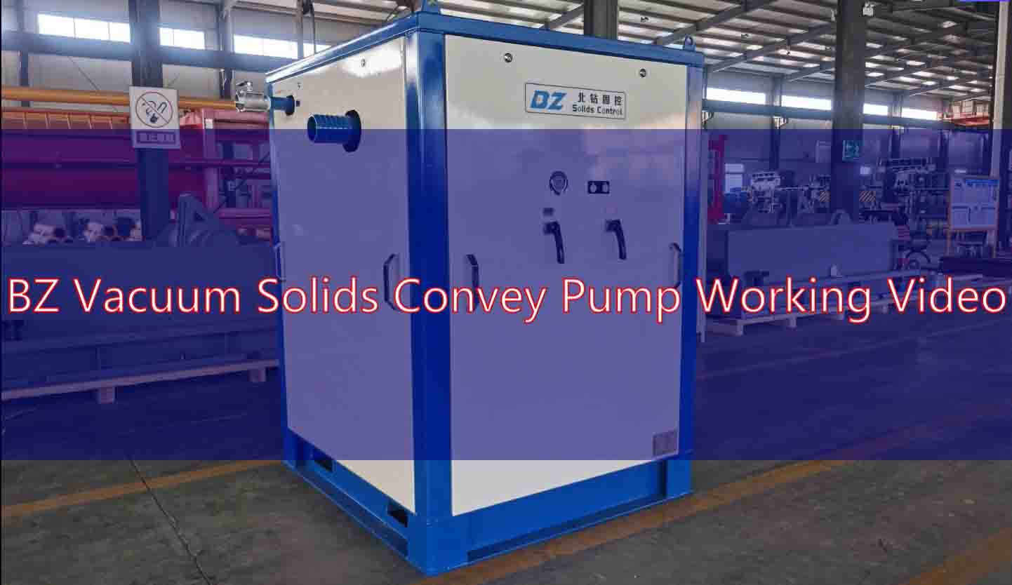 BZ Vacuum Solids Convey Pump Working Video