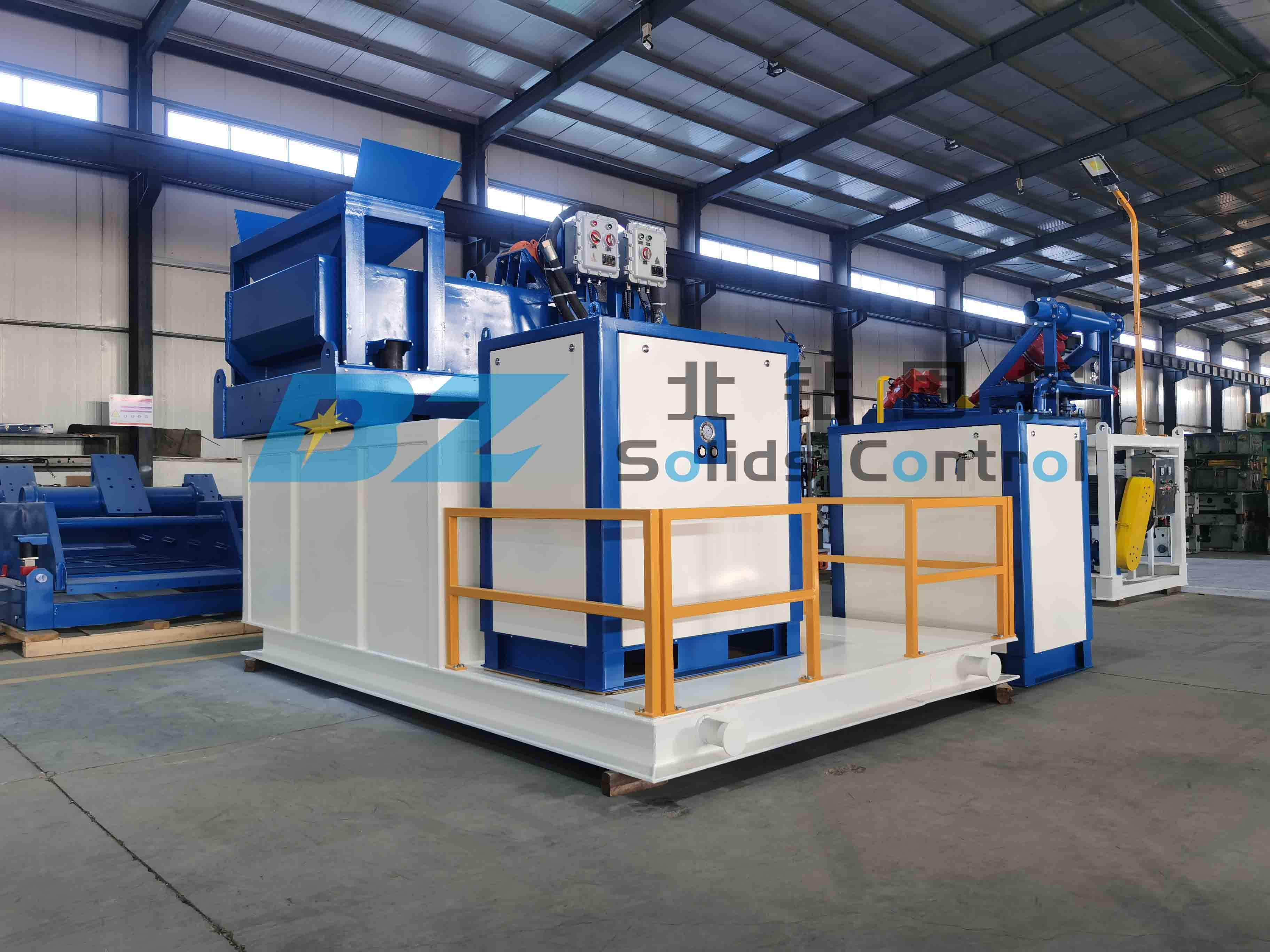 BZ vacuum suction shale shaker device  sent to waste disposal site