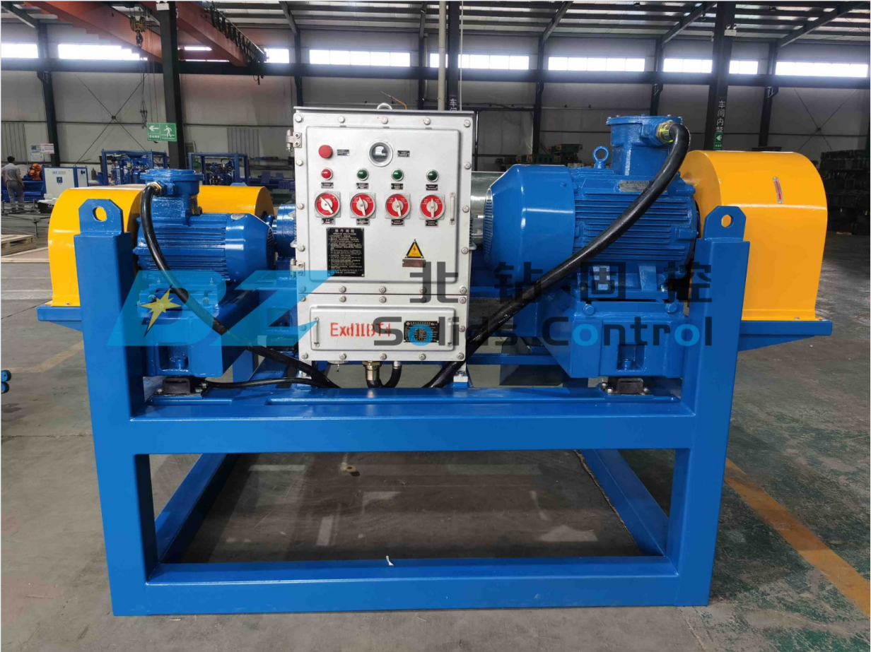 BZ l centrifuge and screw pump were shipped to project site